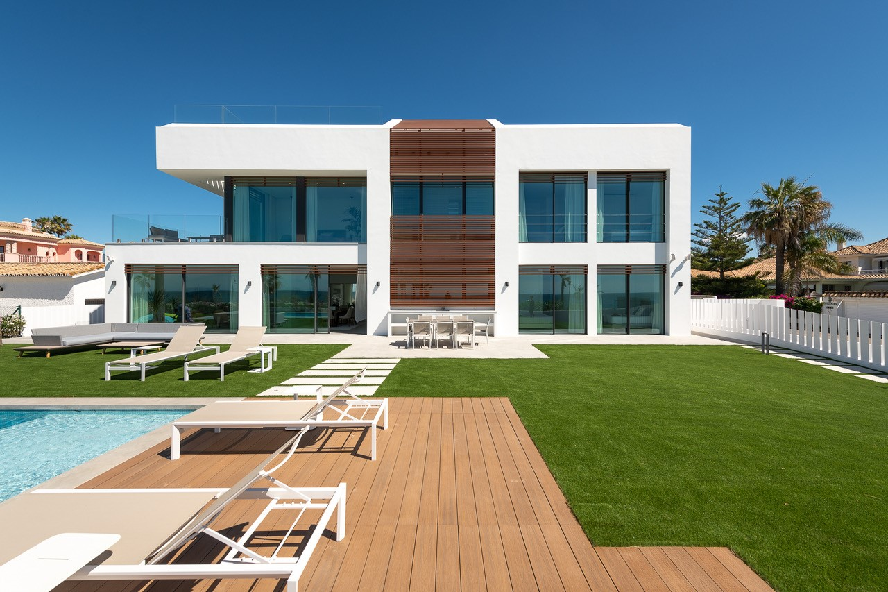 Villa and decking